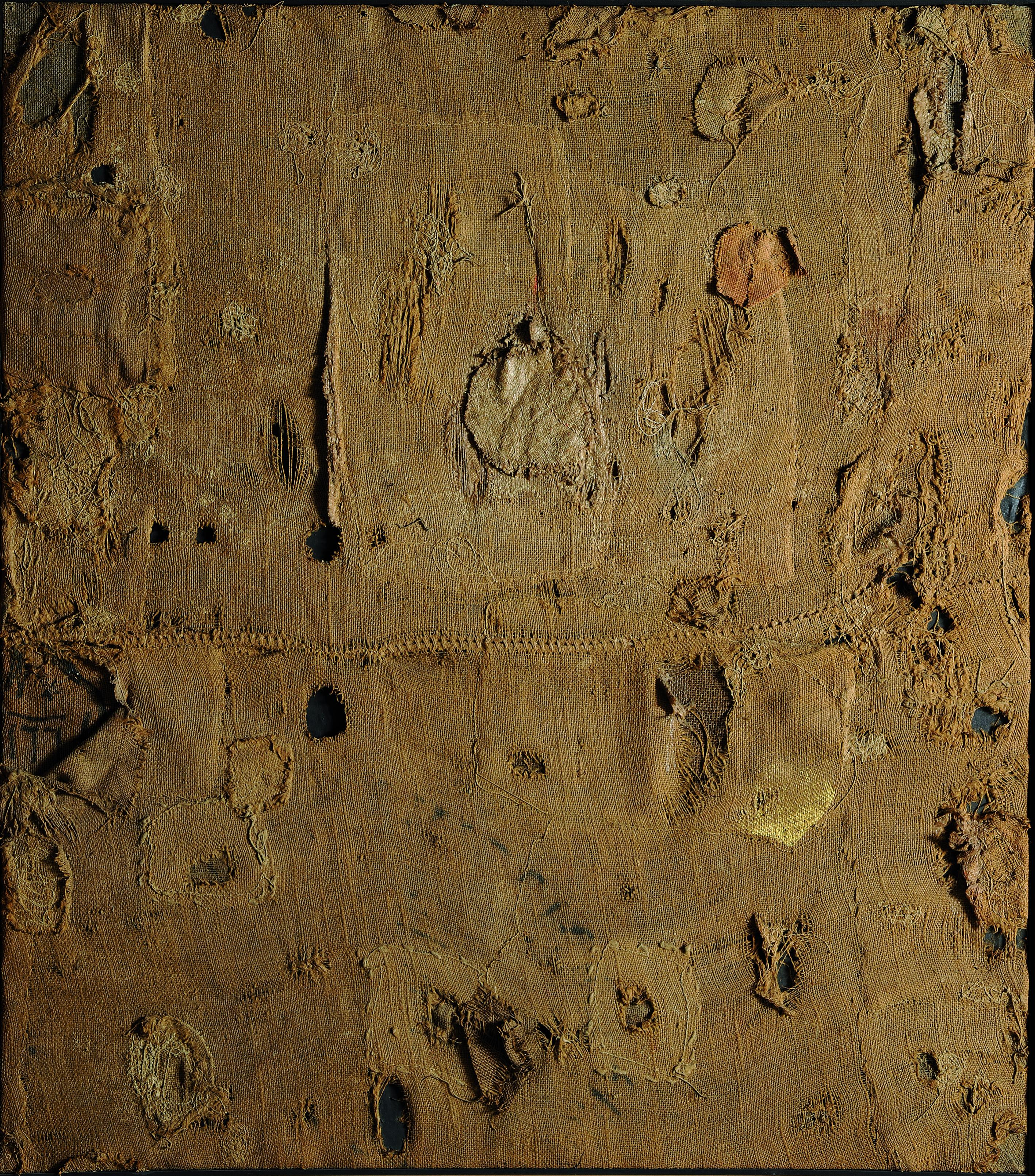 Alberto Burri, Sackcloth and Gold, 1953. Fondazione Burri